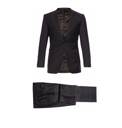 Gieves & Hawkes - Peak-Lapel Single-Breasted Wool Tuxedo