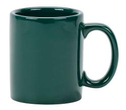 Tuxton  - DuraTux Hunter Green China C-Handle Mug