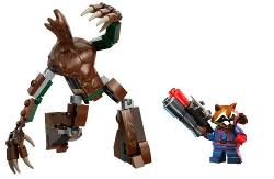 Lego - Guardians Of The Galaxy Rocket Raccoon & Groot figures (loose)