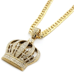 L & L Nation - Queen Crown Hip-Hop Necklace