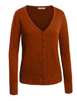 LE3NO - Womens V Neck Raglan Cardigan Sweater