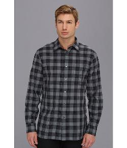 John Varvatos Star U.S.A.  - Slim Fit Blue Plaid Sport Shirt