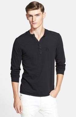 Pierre Balmain - Chest Logo Henley Shirt