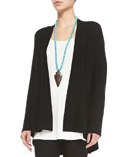 Eileen Fisher   - Long Knit High-Low Cardigan