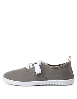 Charlotte Russe - Lace-Up Canvas Sneakers