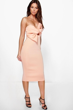Boohoo Night - Noreen Bow Knot Midi Dress
