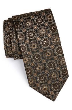 Canali  - Medallion Woven Silk Tie