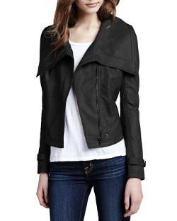 Cusp by Neiman Marcus  - Faux-Leather Shawl-Collar Jacket