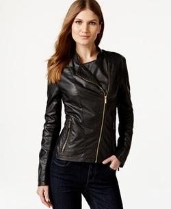 Calvin Klein  - Faux Leather Moto Jacket
