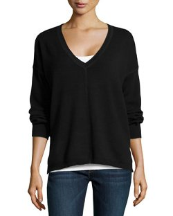 525 America - V-Neck Long-Sleeve High-Low Top