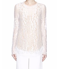 Chloé - Leopard Lace Top