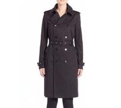 Saint Laurent - Double-Breasted Gabardine Trenchcoat