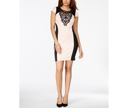 Thalia Sodi  - Lace Colorblocked Sheath Dress