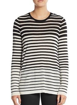 Vince - Striped Wool & Cashmere Blend Sweater