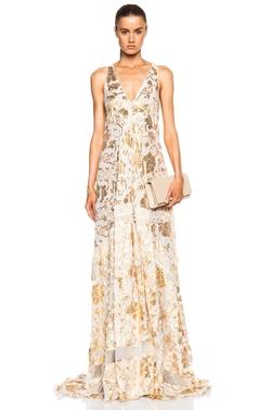 Altuzarra - Bassano Floral Fil Coupe Gown