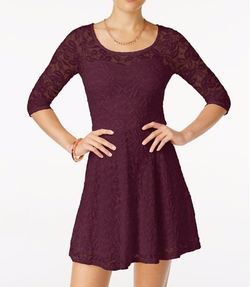 Material Girl - Lace Illusion Skater Dress