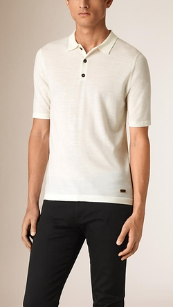 Burberry - Knitted Merino Wool Polo Shirt