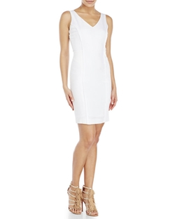 Xoxo - Mixed Media Sheath Dress