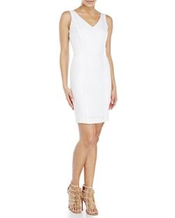 Xoxo - Mixed Media Sheath Dress