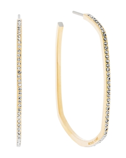 Michael Kors Square Pavé Hoop Earrings - Square Pavé Hoop Earrings