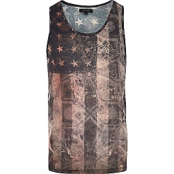 River Island - Stars and Stripes Print Tank