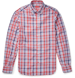 Isaia - Button-Down Collar Checked Shirt