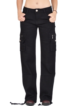 Glamour Outfitters - Wide Leg Cargo Combat Trousers