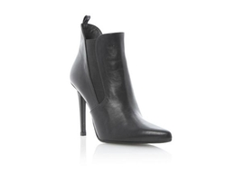 Dune -  Black Pointed Toe Heeled Ankle Boot