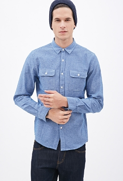 Forever 21 - Chambray Button-Down Shirt