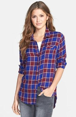 Lucky Brand  - Plaid Flannel Boyfriend Shirt