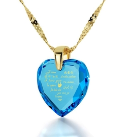 Nano Jewelry  - I Love You Heart Pendant Necklace
