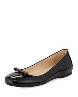 Prada - Atent Leather Ballet Flats