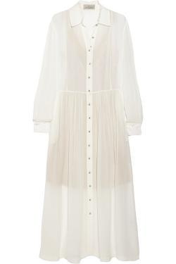 Preen By Thornton Bregazzi  - Barton Silk-Georgette Midi Dress
