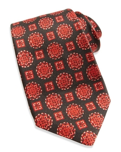 Kiton - Textured Medallion-Print Tie