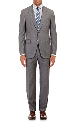 Isaia  - Sharkskin Two-Button Suit