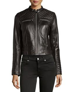 Marc New York by Andrew Marc  - Grace Quilted Leather Jacket