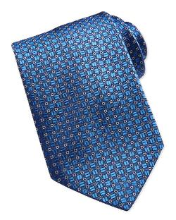 Brioni	 -  Mini-Square Pattern Silk Tie