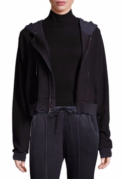 Cotton Citizen  - Zip-Front Cropped Hoodie