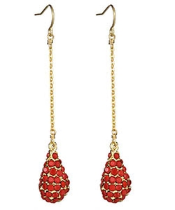 Yochi - Red Drop Earrings