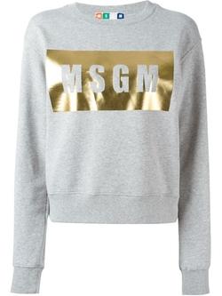 MSGM - Logo Print Sweatshirt