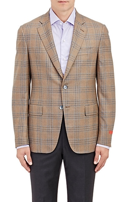 Isaia - Windowpane Plaid Two-Button Sportcoat