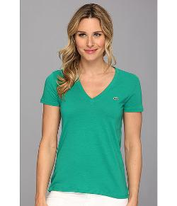 Lacoste  - S/S Jersey V-Neck Tee
