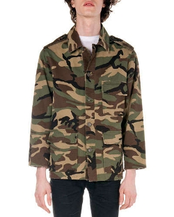 Saint Laurent  - Camo-Print Field Jacket