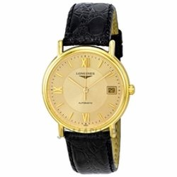 Longines -  Gold-Tone Automatic Mens Watch