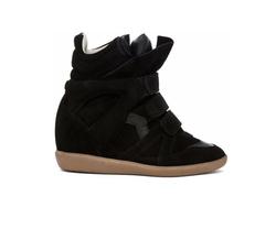 Isabel Marant - Bekett Calfskin Suede Sneakers
