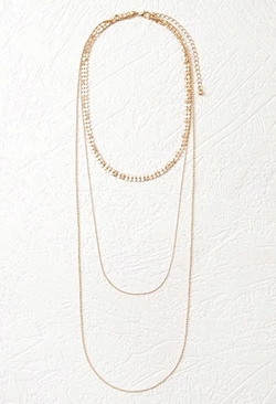 Forever 21 - Mesh Layered Necklace