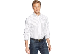 Club Room - Long-Sleeve Striped Oxford Shirt