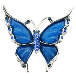Fabuzone - Blue Butterfly Brooch