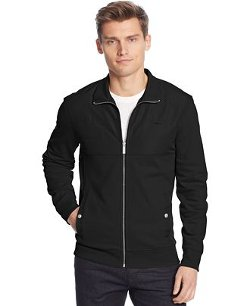 Calvin Klein -  Full-Zip Solid Full-Zip Pique Fleece Jacket