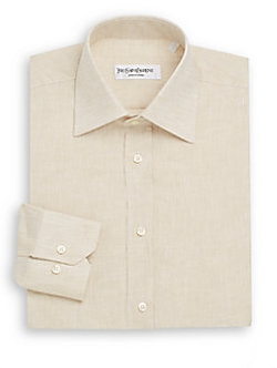 Yves Saint Laurent  - Regular-Fit Linen Dress Shirt
